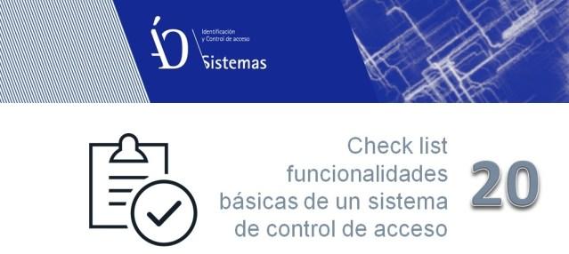 20 funcionalidades del control de acceso