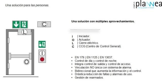 salidas emergencia con control electrónico