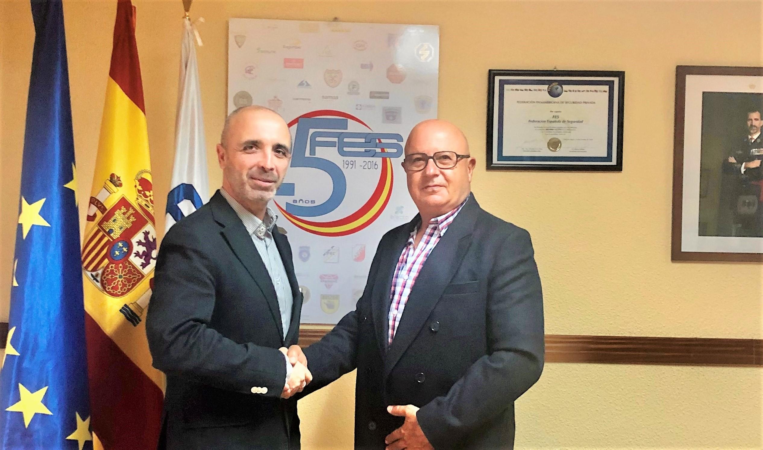 Acuerdo federación española seguridad FES y Angel Olleros