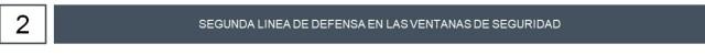 Segunda defensa para ventanas de seguridad