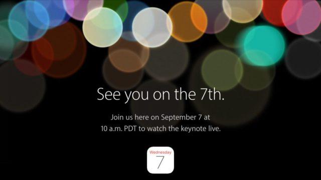Evento Apple Settembre 2016