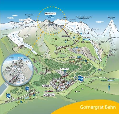 Sommer-Panorama Gornergratbahn