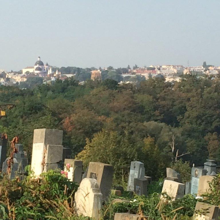 Jüdischer Friedhof mit Blick auf die Altstadt