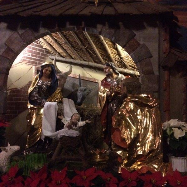 Weihnachtskrippe in der Franziskanerkirche Wien