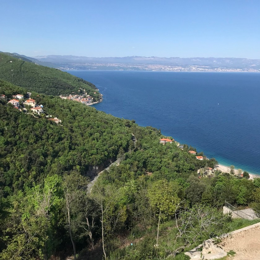 Blick über die Kvarner Bucht nach Rijeka