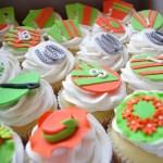 horse racing themed cupcakes, vanilla cupcakes, vanilla butter icing, custom made sugar paste decorations
