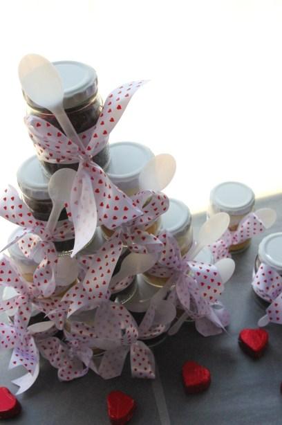chocolate cupcake-in-a-jar, vanilla cupcake-in-a-jar, body thrills valentines