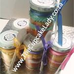 cupcake-in-a-jar, wedding favours, pastel colours, vanilla, butter icing