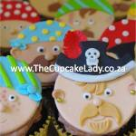 Cake artist, sugar artist, Vorna Valley, Midrand. sugar paste pirate faces, cupcake toppers, hand made
