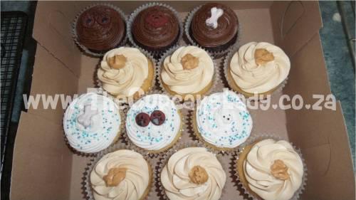 chocolate cupcakes, vanilla cupcakes, peanut butter cupcakes
