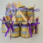 Cake artist, sugar artist, Vorna Valley, Midrand. cupcake-in-a-jar, purple