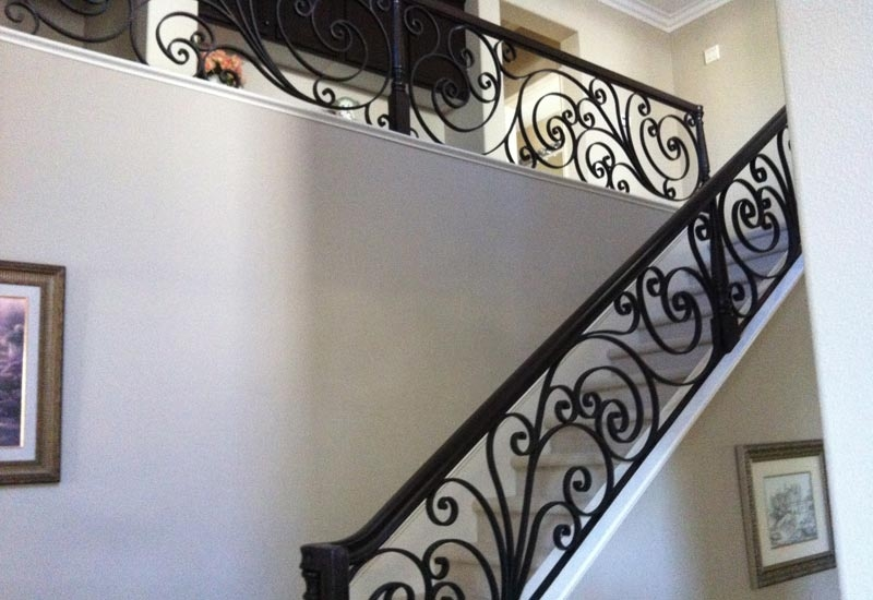 Ornamental Wrought Iron Staircase Railing Orange County Ca   Rustic Wrought Iron Stair Railings   Simple   House   Cabin   Iron Baluster   Contemporary