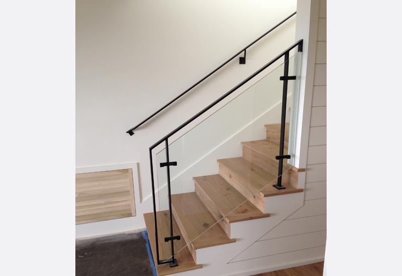 Ornamental Wrought Iron Staircase Railing Orange County Ca | Modern Iron Stair Railing | Handrail | Before And After | Glass | Ornamental | Elegant
