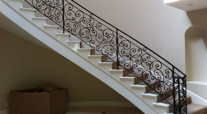 Brea Ca Wrought Iron Stair Railings Staircases Iron Fencing   Wrought Iron Stair Railings Interior Cost   Stair Parts   Iron Staircase Railings   Rod Iron Balusters   Wood   Stair Spindles
