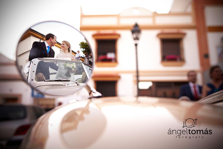 Espejo. Boda María y Salva. Ángel Tomás Fotógrafo de bodas en Córdoba.