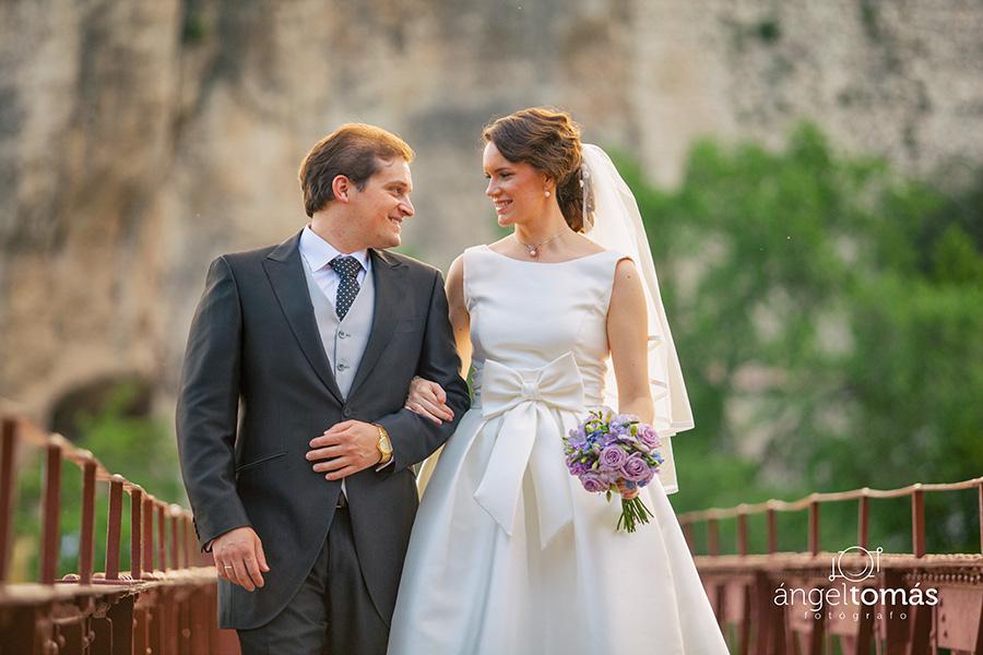 Reportaje fotografía de boda realizado en Cuenca por Ángel Tomás Fotógrafo de bodas. Puente. Casas Colgadas.