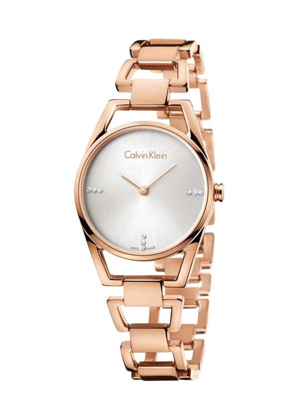 CK CALVIN KLEIN Ladies Wrist Watch Model DAINTY - 9 Diamonds K7L2364T