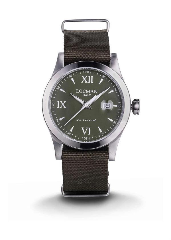 LOCMAN Gents Wrist Watch Model ISLAND 0614A03-00GRWHNG