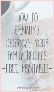 If you need to find a way to organize your family recipes, a recipe binder is a great place to start! Find my free printable and create your binder today.