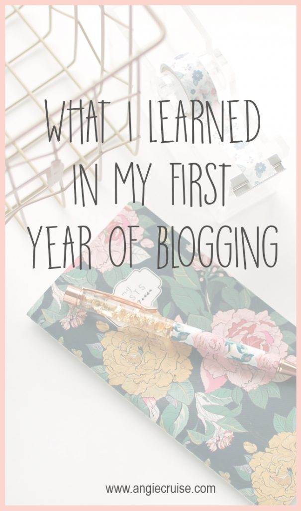 What I Learned In My First Year of Blogging