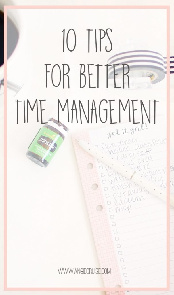 The last few months, I've really been struggling with my time management. Blog posts aren't getting published, deadlines are barely being met, and I realize at 6 pm that I didn't pull out anything for dinner. This list of 10 time management tips is for me as much as it is for you!