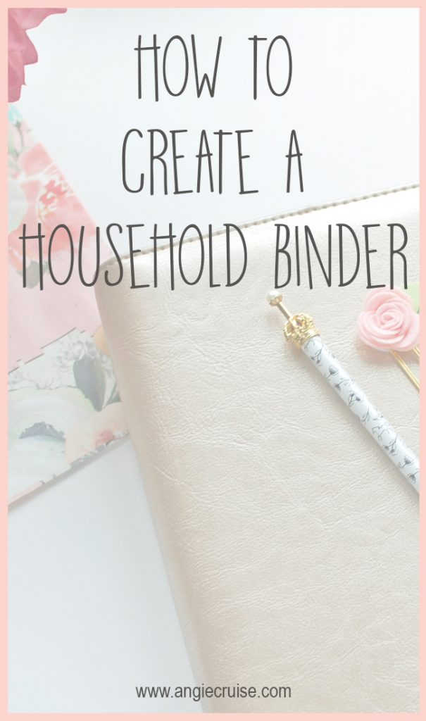 How to Set Up a Household Binder {Guest Post}