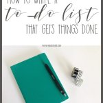 How to Write a To-Do List That Gets Things Done
