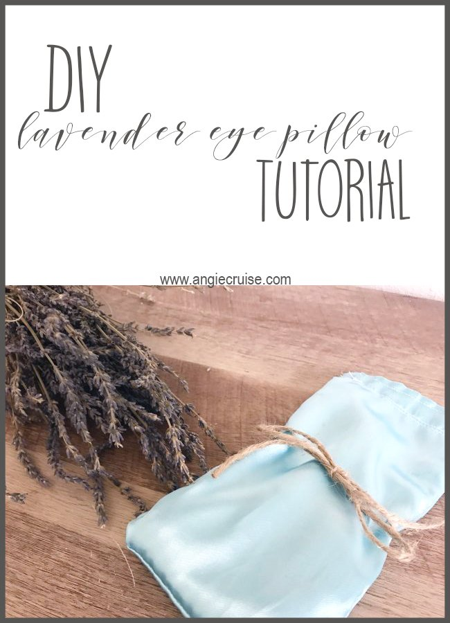 DIY Lavender Eye Pillow