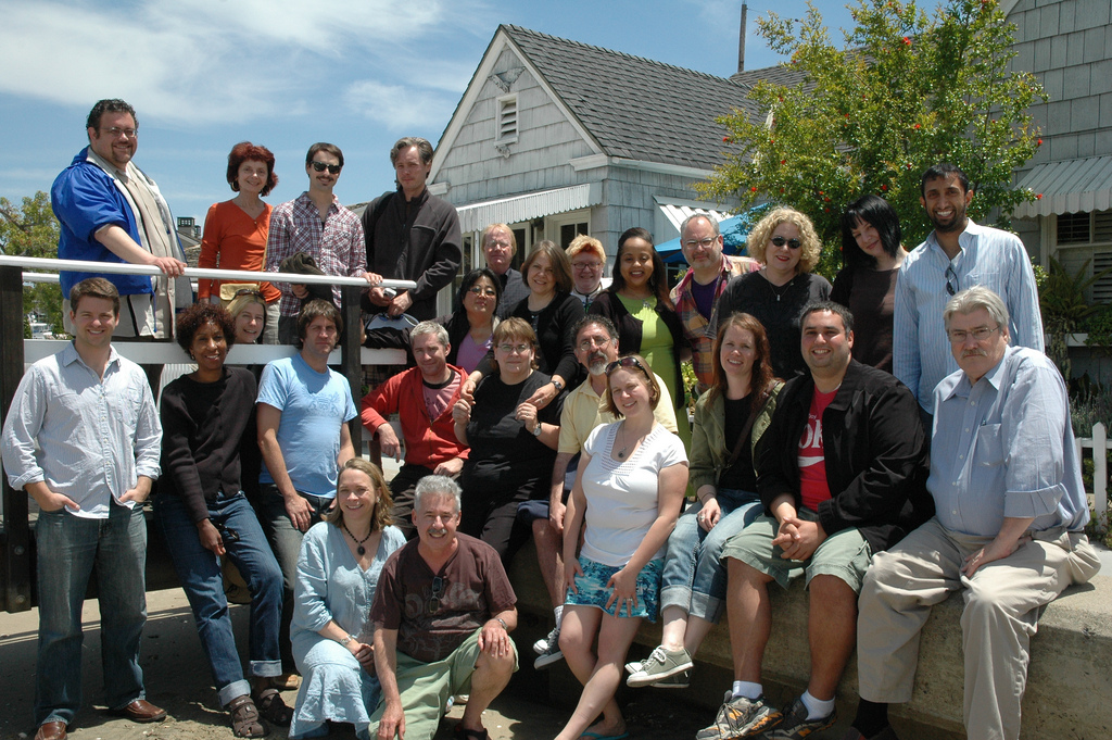 Photo of my NEA Fellowship group at Balboa Island.