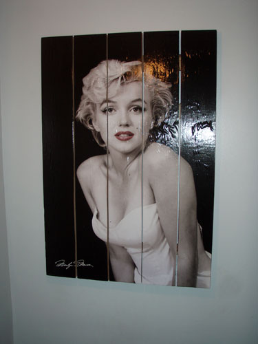 Marilyn Monroe Poster Hung