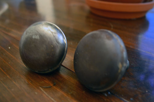 Restored Door Knobs
