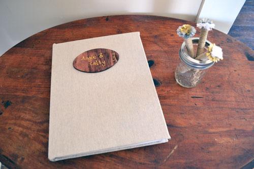 Rustic Guest Book & Pens