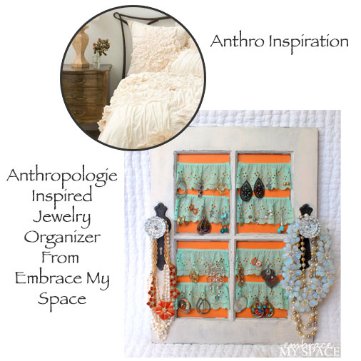 Anthropologie Inspired Jewelry Organizer From Embrace My Space