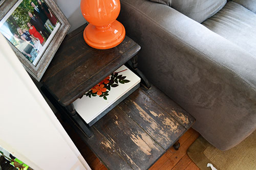 Living Room End Table Before