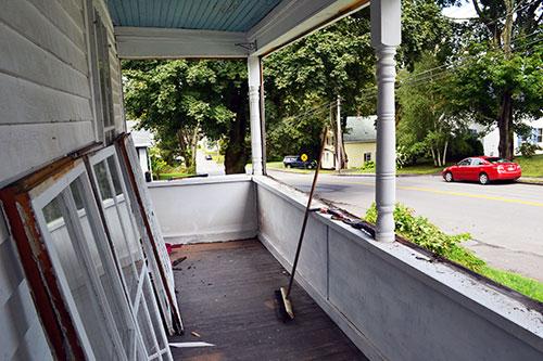 Porch Windows Removed