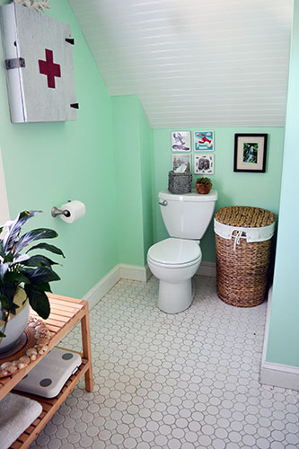Accessorized Bathroom Toilet Nook