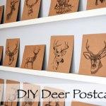Kraft Paper Deer Postcards