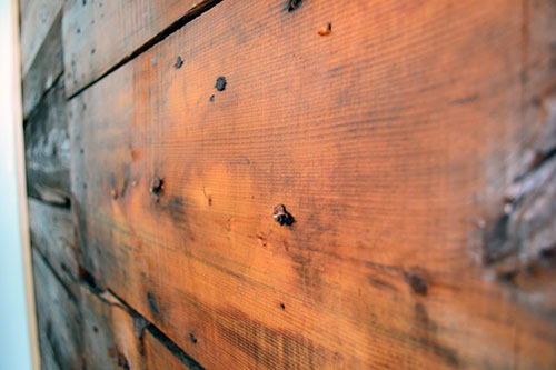 Up Close And Personal With Old Wood Sheathing