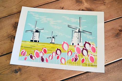 Windmill Print From Laura Amiss Etsy Shop
