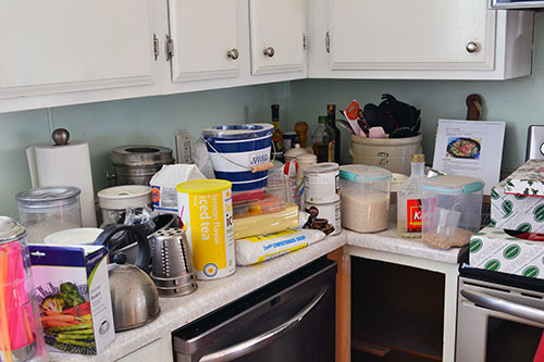 Clearing The Kitchen Cabinets For Organizing
