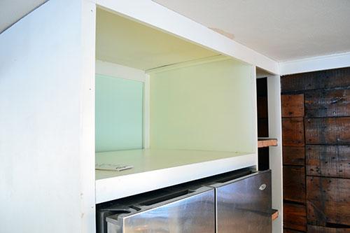 Painted Microwave Shelf