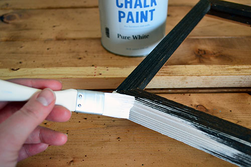 Painting Wooden Frame With Annie Sloan Chalk Paint In Pure White