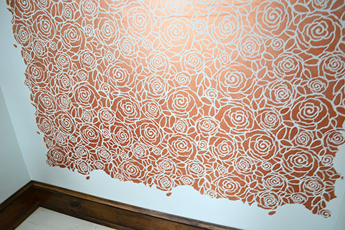Stenciling Up To Trim And Other Walls