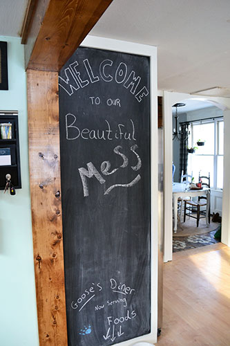 kitchen chalkboard wall angie 39 s roost. Black Bedroom Furniture Sets. Home Design Ideas