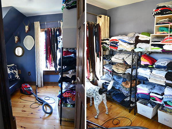 Closet Mess Moved To The Guest Room