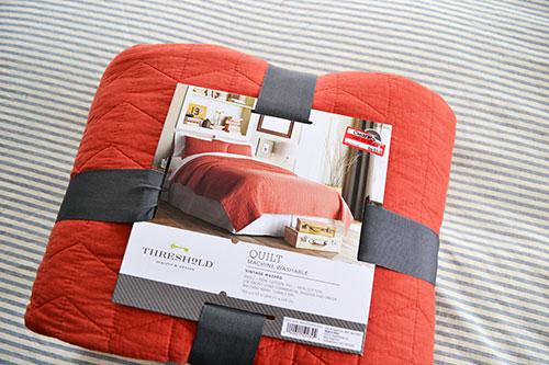 Coral Target Threshold Quilt Bedroom Inspiration