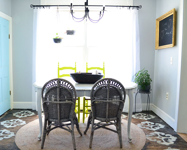 Gray Wicker Dining Chairs