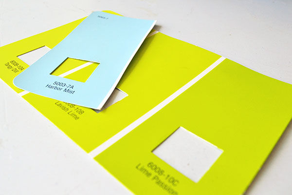 Lime And Light Blue Paint Combo