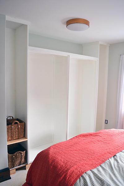 White Painted Master Closet
