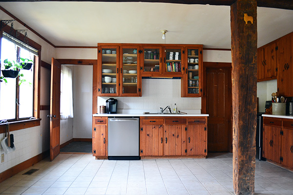 Farmhouse Kitchen With Old Island Removed